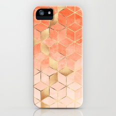 Soft Peach Gradient Cubes Slim Case iPhone (5, 5s)