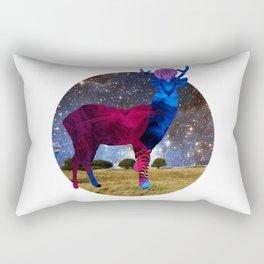 DeerInvasion - Unbelievable Nature Scene 3 Rectangular Pillow
