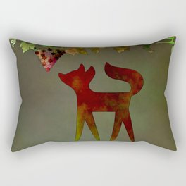 The fox and the grapes Rectangular Pillow