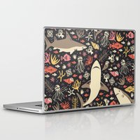blanket Laptop & iPad Skins featuring Oceanica by Anna Deegan