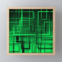 Black and green abstract Framed Mini Art Print