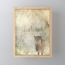 Iceland, forged by fire and ice Framed Mini Art Print
