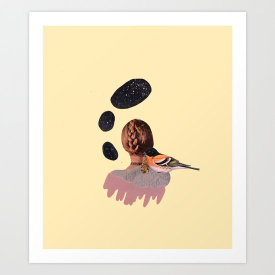 all at once, disappeared Art Print