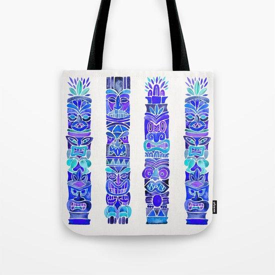 Tiki Totems – Indigo Palette Tote Bag