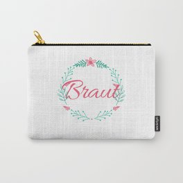 Bride Shirt Ideas Ladies with Flowers Carry-All Pouch