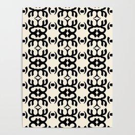Namaste Symbol Abstract Pattern Poster