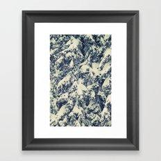 Snowy Branches Framed Art Print