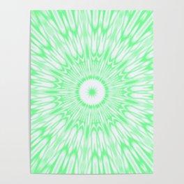 Seafoam Green Kaleidoscope Poster