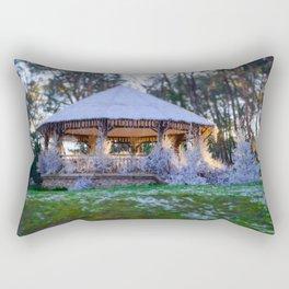 Kiosk in winter Rectangular Pillow