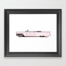 1964 Pink Cadillac Framed Art Print