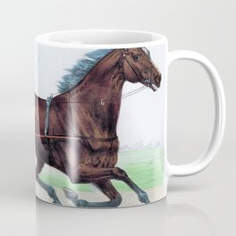 Louis Maurer -The grand young trotting stallion Axtell - Digital Remastered Edition Coffee Mug