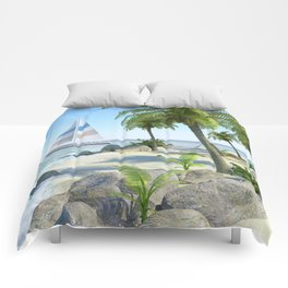 Tropical Island Paradise Comforters