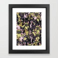 Social French Bulldog Framed Art Print
