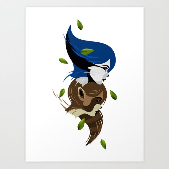 Modecate and Rigbelle Art Print