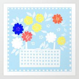 Spring flower basket 3 Art Print