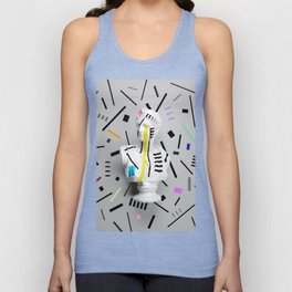 The Geometry of the Viewer (Confetti Edition) Unisex Tank Top