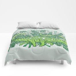 Winter Solstice Sauropod | Evergreens Palette Comforters