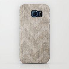 Chevron burlap (Hessian series 1 of 3) Slim Case Galaxy S6