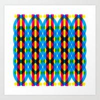 dna Art Prints featuring DNA by dzynwrld