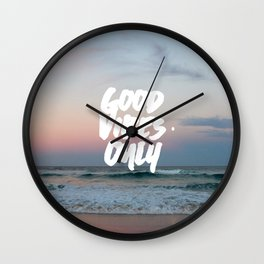 Good Vibes Only Beach and Sunset Wall Clock
