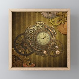 Steampunk design, wonderful clockwork Framed Mini Art Print