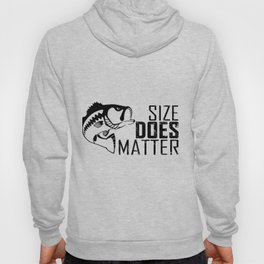 Bass Fish Size Does Matter Fisherman Hoody