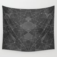 constellations Wall Tapestries featuring Constellations 2 by Dood_L