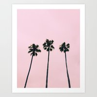 Art Prints featuring Cali Vibe by Nicole Moore