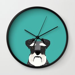 Schnauzer dog head cute gifts for schnauzers lovers dog breed art Wall Clock