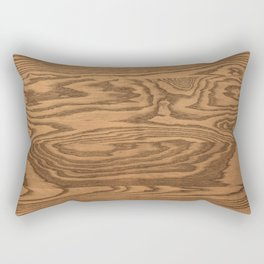 Wood 5, heavily grained wood Horizontal grain Rectangular Pillow