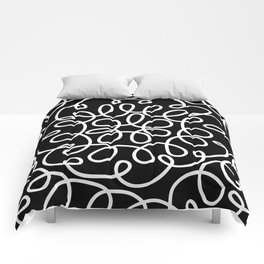 Hand drawn flower doodle circles Comforters