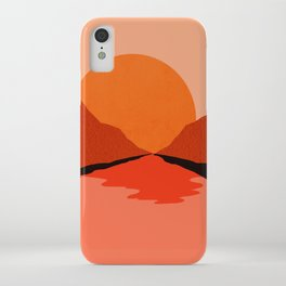 Abstraction_Sunset_Mountains_001 iPhone Case