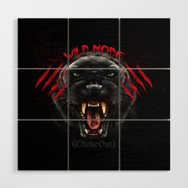 Wild Mode. Bjj, Mma, grappling Wood Wall Art