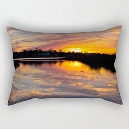 Painted Sky Reflections Rectangular Pillow