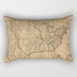Map of the United States by John Melish (1818) 3rd State Rectangular Pillow