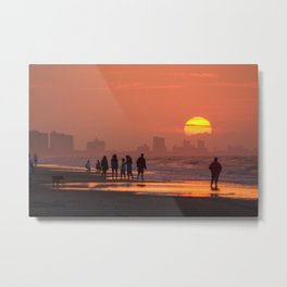 Sunrise at Myrtle Beach, SC Metal Print