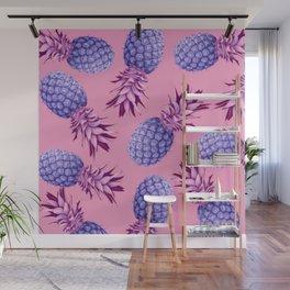 Violet pineapples Wall Mural
