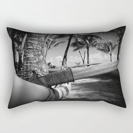Kuau Palm Trees Hawaiian Outrigger Canoe Paia Maui Hawaii Rectangular Pillow