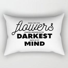 Flowers In My Mind Rectangular Pillow