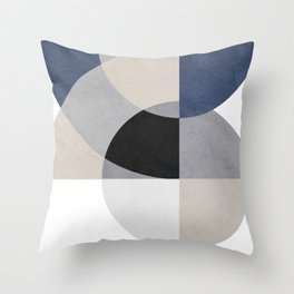 Beautiful art with circular geometric shapes Throw Pillow