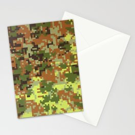 Pixel Camouflage Oil Painting Stationery Cards