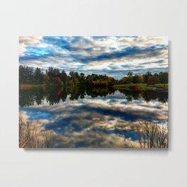 Fall Sunset Landscape Metal Print