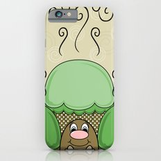 Cute Monster With Green And Yellow Frosted Cupcakes iPhone 6s Slim Case