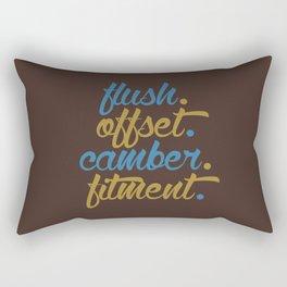 flush offset camber fitment v7 HQvector Rectangular Pillow