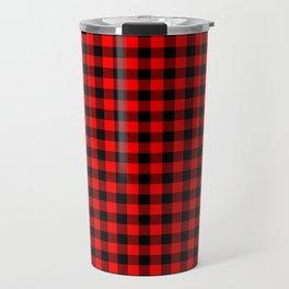 Australian Flag Red and Black Outback Check Buffalo Plaid Travel Mug