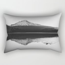 Wild Mountain Sunrise - Black and White Nature Photography Rectangular Pillow