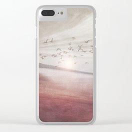 Positive sunset II Clear iPhone Case