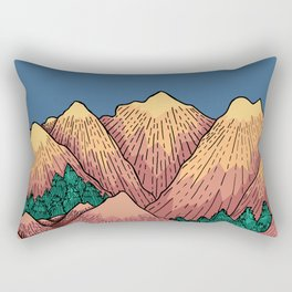 Natural Mountains Rectangular Pillow