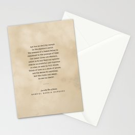 Gabriel Garcia Marquez Quote 01 - Typewriter Quote on Old Paper - Minimalist Literary Print Stationery Cards