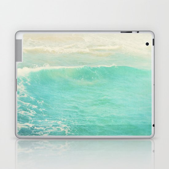 beach ocean wave. Surge. Hermosa Beach photograph Laptop & iPad Skin